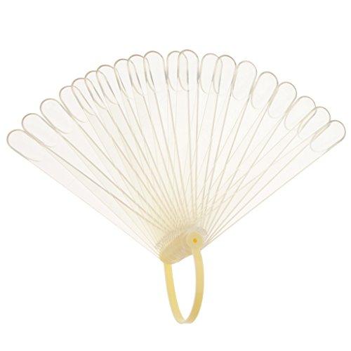 Sharplace 20 Pièces Nuancier de Vernis à Ongles Conseils Affichage en Plastique Présentoir Pratique pour Nail Art - Clair