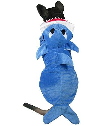 leidung Winter Shark Kostüm Hund Hoodie Kostüm Hundemantel Fleece Dog Pyjama Animal (Tinkerbell Kostüm Hund)