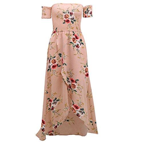Luckybaby Damen Bandeau Kleid Lotus root starch