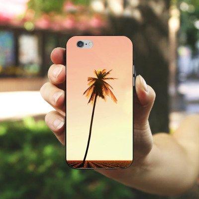 Apple iPhone X Silikon Hülle Case Schutzhülle Palmen Urlaub Sonne Silikon Case schwarz / weiß