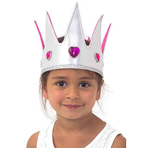 Königin Krone für Kinder - silber mit Juwelen für Königin Kostüm - Prinzessin Krone - Lucy ()