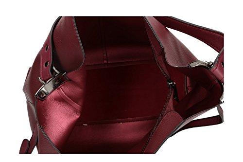 Borsa donna a spalla PIERRE CARDIN apertura zip con tracolla Bordeaux