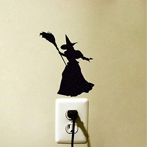 exe Silhouette PVC Removable Wohnzimmer Schlafzimmer Aufkleber Halloween Party Wanddekoration Aufkleber Neueste ()
