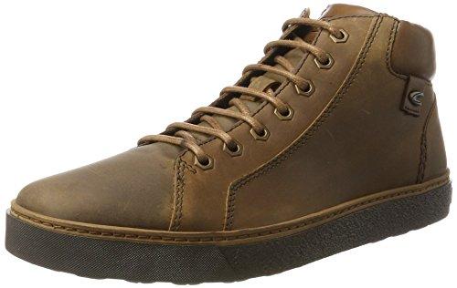 camel active Herren Cricket 13 Hohe Sneaker, Blau (Bison), 44 EU (Leder Schuhe Camel)
