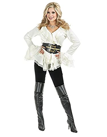 Charades South Sea Pirate Lady-Blouse,Boots & Belt