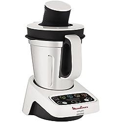 Moulinex HF404113 Robot de cocina multifunción, capacidad de 3 l, interfaz intuitivo con 5 programas automáticos, 5 accesorios 1000 W