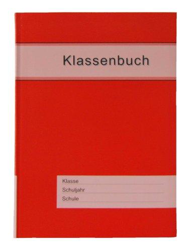 Klassenbuch Standard mit rotem Umschlag, für alle Schulformen - 11 Unterrichtsstunden/Tag