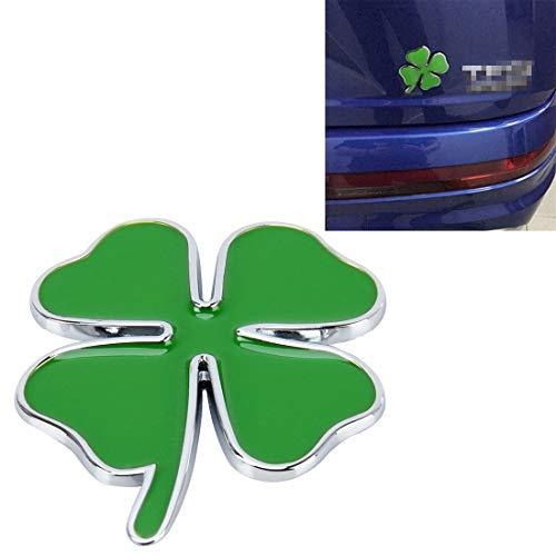 Trébol de cuatro hojas Suerte de hierbas Símbolo Insignia Emblema Etiquetado Pegatina Diseño Car Dashboard Decoración Pegatina