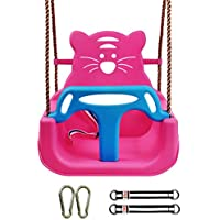 JTYX 3 en 1 Columpios para niños Hamacas para el hogar en el Interior Asiento de bebé Silla para Columpios para niños Sillas para hamacas,Pink,Outdoorpackage