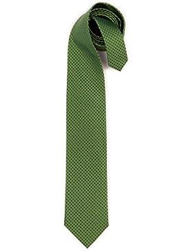 Trachten Krawatte - UNI-CHECK - bordeaux, grün