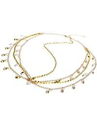 Oriental cheveux tête Chaîne Chaîne Bandeau cheveux bande de tête bijoux bijoux de cheveux différentes Style S en or aspect de desido® (6)