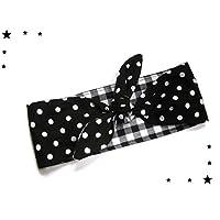 Rockabilly Haarband schwarz Polka dots