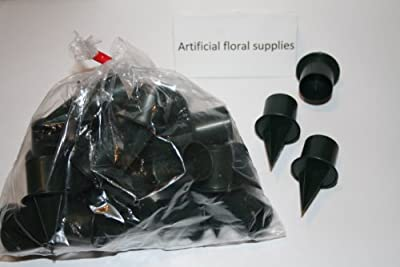 25 Bag Of 1 Small Green Plastic Candle Holders For Oasis And Flower Arrangement