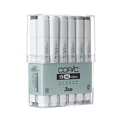 Copic Marker - neutrales Grau - 12er Set