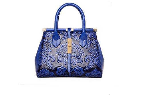 Le nuove borse, spalla la signora in rilievo le borse, il sacchetto del messaggero delle retro, borse di stile cinese blue gem