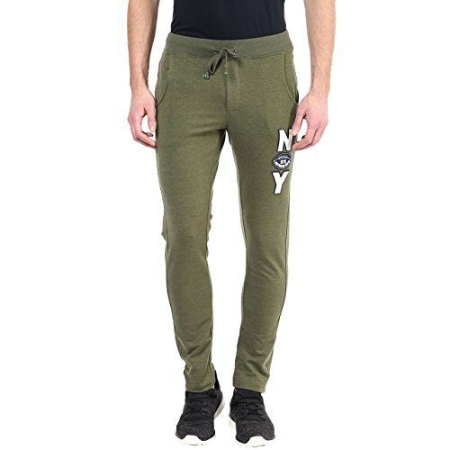 American Crew Men's Slim Fit Trackpant (green Melange)