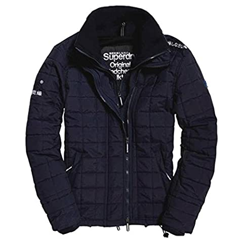 Superdry Men's Quilted Athletic Windcheater Sports Jacket, Blu (Eclipse Navy/Black), XX-Large