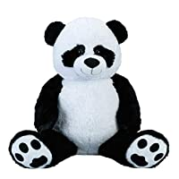 Lifestyle & More Giant Panda bear Cuddly bear XXL 100 cm big Plush bear Cuddly toy Panda velvety soft - for loving