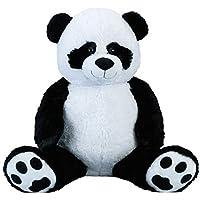 Lifestyle & More Panda géant XXL Cuddly 100 cm en Peluche Grand Animal en Peluche Panda veloutée - pour l'amour