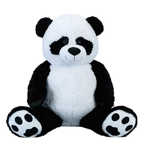 Lifestyle & More Riesen Pandabär Kuschelbär XXL 100 cm groß Plüschbär Kuscheltier Panda samtig weich - zum liebhaben (Extra Großer Teddybär)