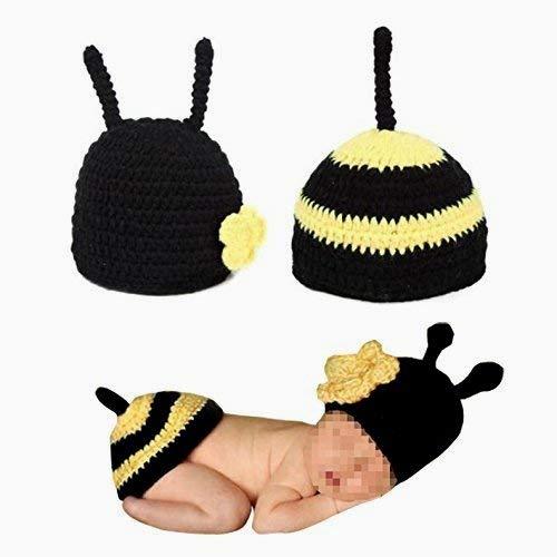 Snner Baby-Foto-Stütze-Ausstattungs-Kleidung-Baby-Häkelarbeit Fotografie Kostüm für Kinder Kostüm Unisex (Biene)