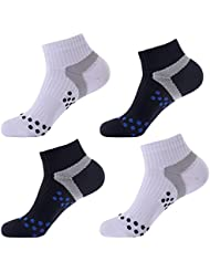 Laulax 4 Pairs Professional Coolmax Compression Massage Cycling Socks, Size UK 7 - 11 / Europe 41 - 46, Gift Set