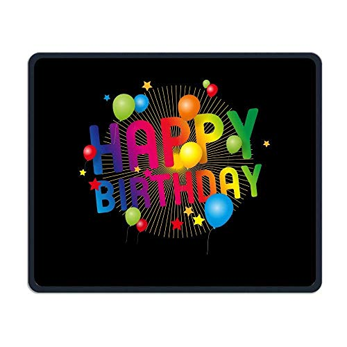 Mouse Pad Happy Birthday Smooth Nice Personality Design Mobile Gaming Mouse Pad Work Mouse Pad Office Pad