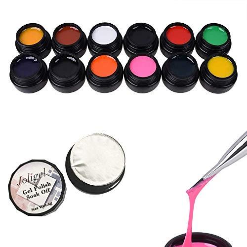 12 colores Painting Gel pintura uñas líneas dibujo