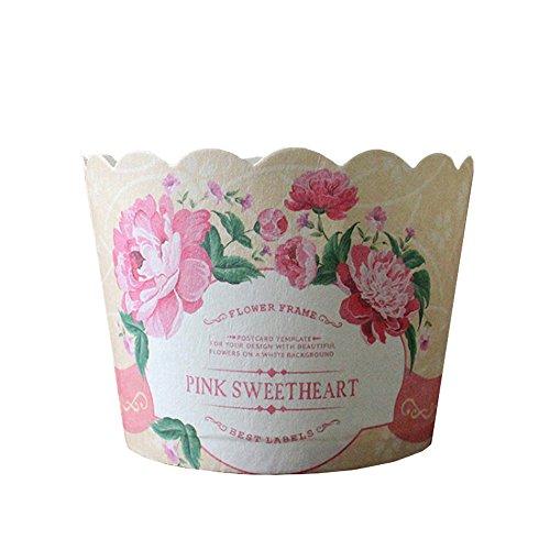 Beiersi 24er Cupcake Wrappers Fällen Cupcake Formen Hohe Temperaturbeständige Backen Tassen Liner Muffin Förmchen Papier für Halloween Hochzeit Geburtstag Party ()