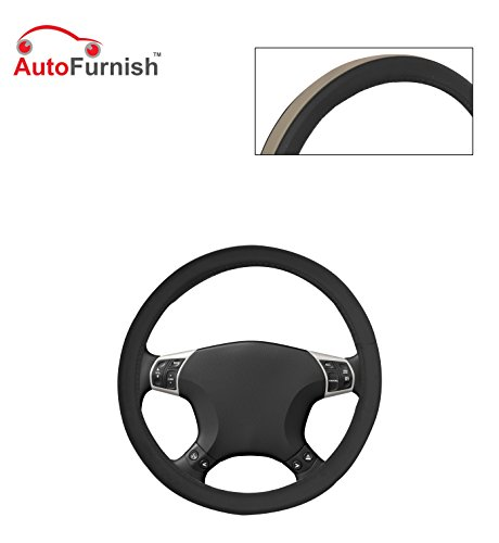 Autofurnish (AFSC-718 Fawn Black) Leatherite Car Steering Cover For Hyundai Fluidic Verna 4S  available at amazon for Rs.299