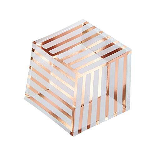Einweg Pappteller Set 8 STÜCKE Rose Gold Sechseckige Form Design Kuchen Teller Papier Geschirr 7 Zoll für Geburtstagsfeier Bankette Hochzeit