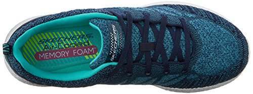 Skechers Burst New Influence, Baskets Basses Femme Navy blue