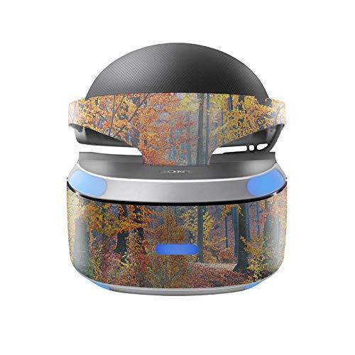 Skins4u Aufkleber Design Schutzfolie Vinyl Skin kompatibel mit Sony PS4 Playstation 4 VR Brille Herbst Wald