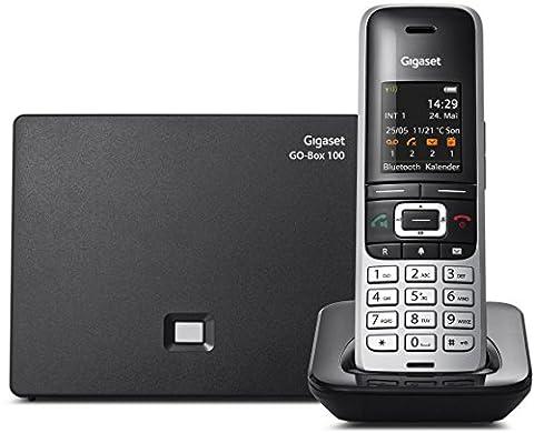 Gigaset S850A Go Telefon - Schnurlostelefon / Mobilteil - mit Farbdisplay / Dect-Telefon - Anrufbeantworter - schnurloses Telefon -Freisprechen - platin schwarz