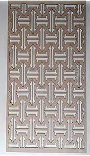 LaserKris Z1 Heizk/örperschrank Lochung 4 x 2 cm MDF-Platte Wanddekoration