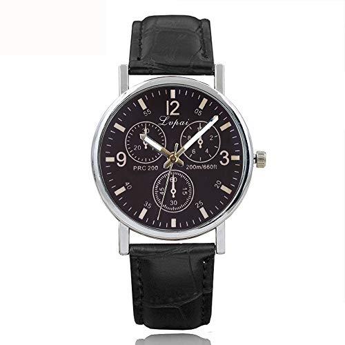 Suitray Uhren Herren, Klassisch Männer Armbanduhr Watches Analoge Quarzuhr Freizeit Uhr Geschenk,Runde Zifferblattgehäuse Lederband Uhren (Verkauf-uhren Für Männer)