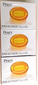 Pears Pure and Gentle Soap with Natural Oils (125g) - Pack of 3