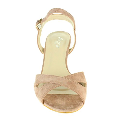 Peep Toe Shimmering Cross Over Strap Sandales 2172482 lCKiAPVE