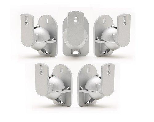 Land Mittel-wandhalterung (TechSol 5 Pack Silber Universal-Wandhalterungen für Lautsprecher)