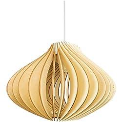 """'Madera lámpara """"Ventus wodewa–Panel de Techo (Madera de Abedul colgante Lights–Lámpara de techo"""
