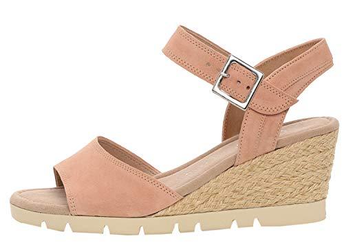 Gabor 22-842 Damen Sandalen Keil Sandaletten Leder, Schuhgröße:38.5 EU, Farbe:Rosa