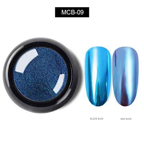 Heller Metallnagellack, Spiegeleffekt, Chromnagellack, hohe Sättigung, leicht zu färben und langlebiges Nagelpulver ()