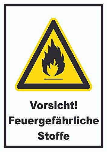 HB-Druck Vorsicht Feuergefährliche Stoffe Schild A0 (841x1189mm) -