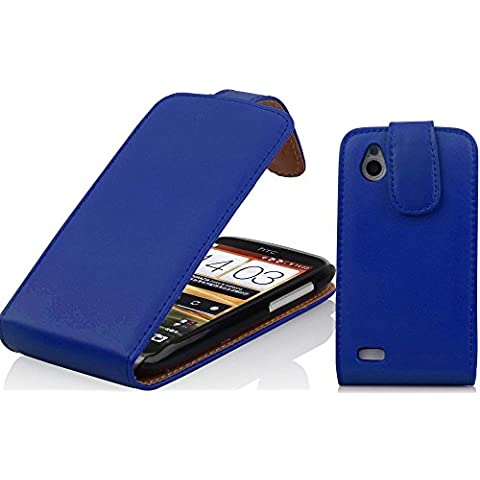 Cadorabo - Funda Flip Style para HTC DESIRE X de Cuero Sintético Liso - Etui Case Cover Carcasa Caja Protección en