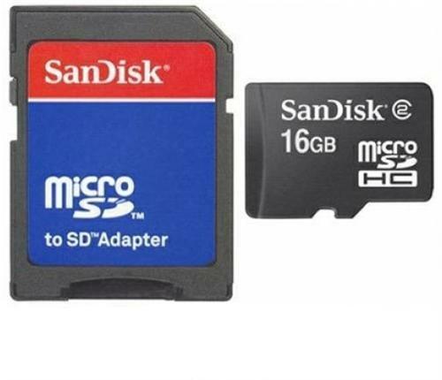 16GB Micro SD SDHC Speicherkarte Karte Memory Card + SD-Adapter für LG Bello II Class F60 F70 G Flex 2 Pro 3 G3 S Stylus G4 Stylus G4c G4s G5 K10 K4 K5 K7 K8 L Bello Fino L35 L50 L65 L80 Leon Magna