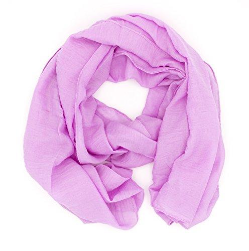 WILD CAT Damen Schal Halstuch Tuch aus Chiffon für Frühling Sommer Ganzjährig (Orchidee)