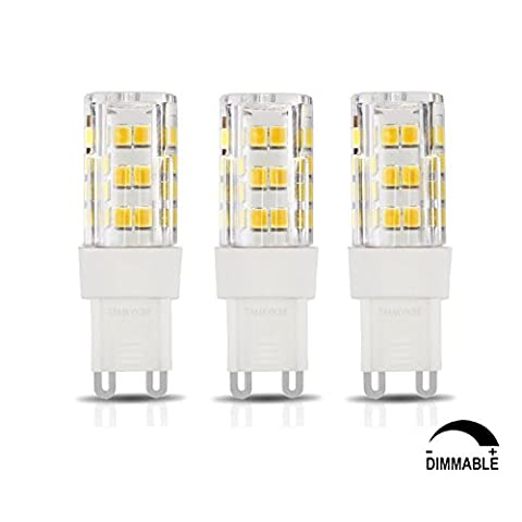 TAMAYKIM G9 Fassung 5W Dimmbar LED Lampe, 3000K Warmweiß 500LM SMD 2835, 50W Entspricht Halogenlampen, AC 220V-240V, 360° Abstrahlwinkel, 3er-Pack