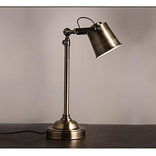 ZXW Loft Vintage amerikanische Country-Stil Schlafzimmer Nacht Eisen industrielle Metallbearbeitung Nostalgie Studie Lampe