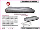 Proposteonline portabagagli Box Tetto Auto 195 x 77 x 38 cm per Fiat Freemont 2011  con Barre Portapacchi portatutto ex58ya