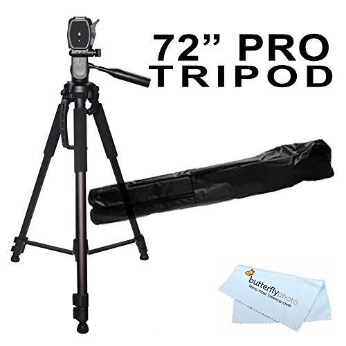 72 inch Tripod w/Case For The Nikon Df, D7200, D5300, D3300, D5200, D3200, D3X, D3S, D700, D300S, D7000 D90 D5100 D800 D800E D810 D600 D610, D7100, D750 DSLR and Blackmagic Pocket Cinema Camera + More  available at amazon for Rs.4570